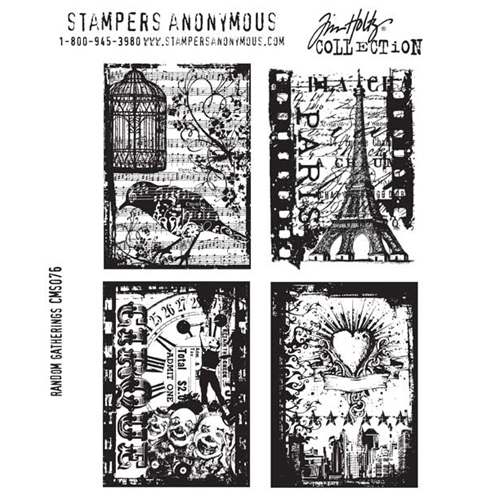 Tim Holtz Cling Rubber Stamps RANDOM GATHERINGS CMS076  Preview Image