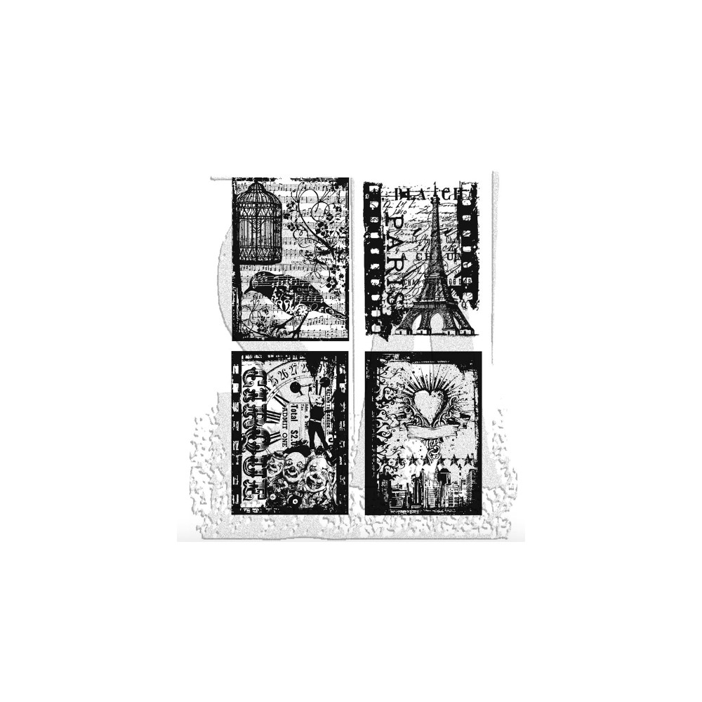 Tim Holtz Cling Rubber Stamps RANDOM GATHERINGS CMS076  zoom image