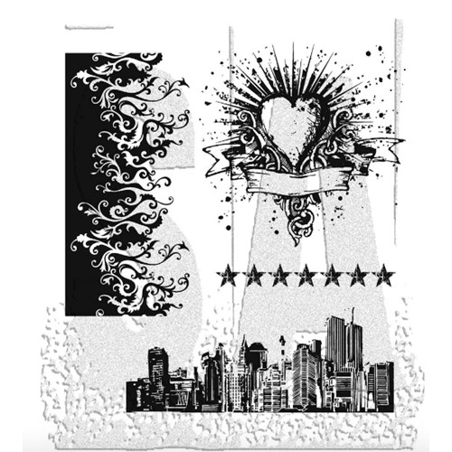 Tim Holtz Cling Rubber Stamps ROCK STAR CMS073 Preview Image