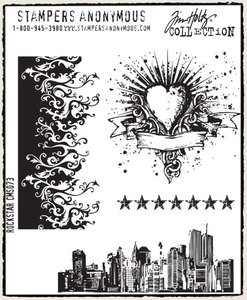 Tim Holtz Cling Rubber Stamps ROCK STAR Rockstar Stampers Anonymous CMS073