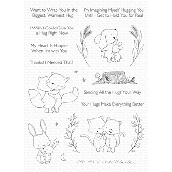 My Favorite Things HUGS MAKE EVERYTHING BETTER Clear Stamps sy31