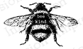 Impression Obsession Cling Stamp BEE KIND A13984