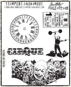 Tim Holtz Cling Rubber Stamps THE BIG TOP Circus Stampers Anonymous cms074