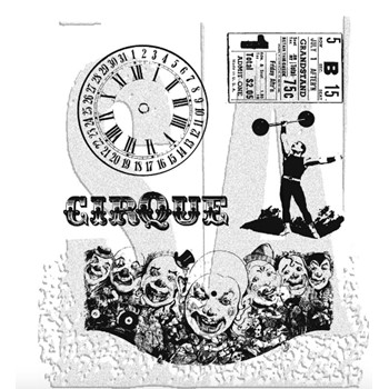 Tim Holtz Cling Rubber Stamps THE BIG TOP Circus cms074