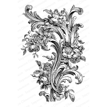 Impression Obsession Cling Stamp ORNATE FLOURISH N22047