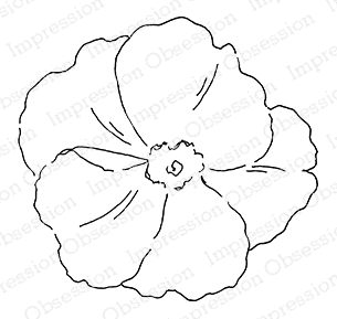 Impression Obsession Cling Stamp FULL BLOOM E20920