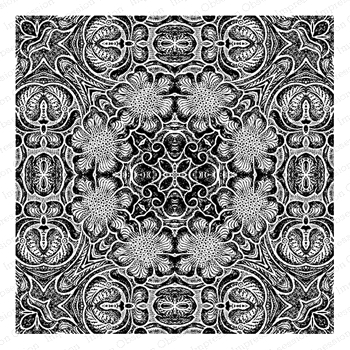 Impression Obsession Cling Stamp LEATHER KALEIDOSCOPE Create A Card CC416