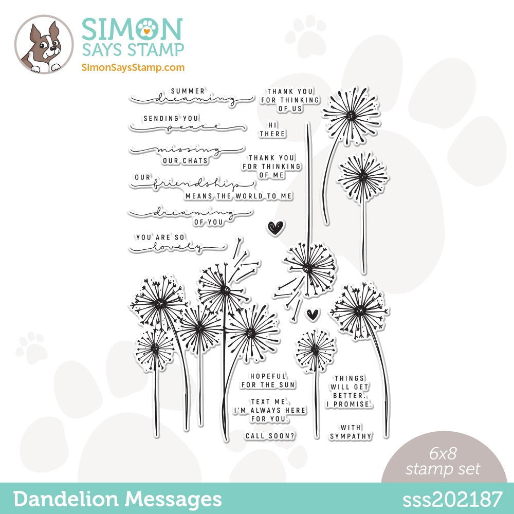 Simon Says Clear Stamps DANDELION MESSAGES sss202187 zoom image
