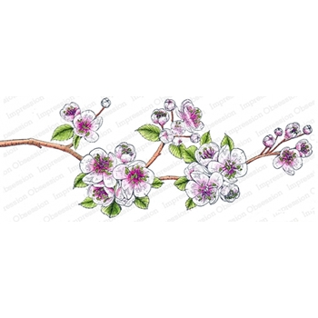 Impression Obsession Cling Stamp CHERRY BLOSSOM 3254 LG