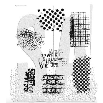 Tim Holtz Cling Rubber Stamps ULTIMATE GRUNGE Background CMS075