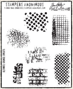 Tim Holtz Cling Rubber Stamps ULTIMATE GRUNGE Background Stampers Anonymous CMS075 zoom image