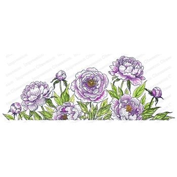 Impression Obsession Cling Stamp PEONIES 3258 LG