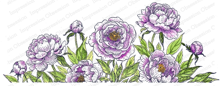 Impression Obsession Cling Stamp PEONIES 3258 LG zoom image