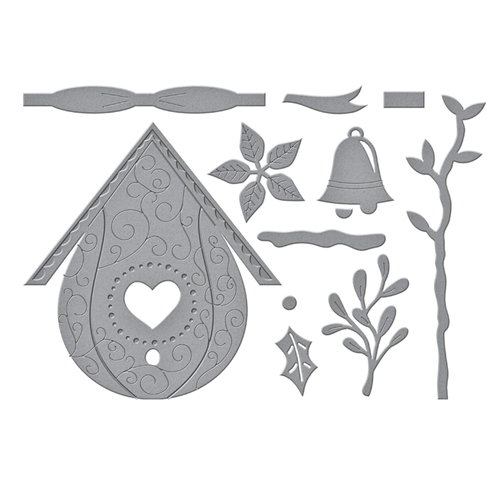 S5 449 Spellbinders BUILD A WINTER BIRDHOUSE Etched Dies Preview Image
