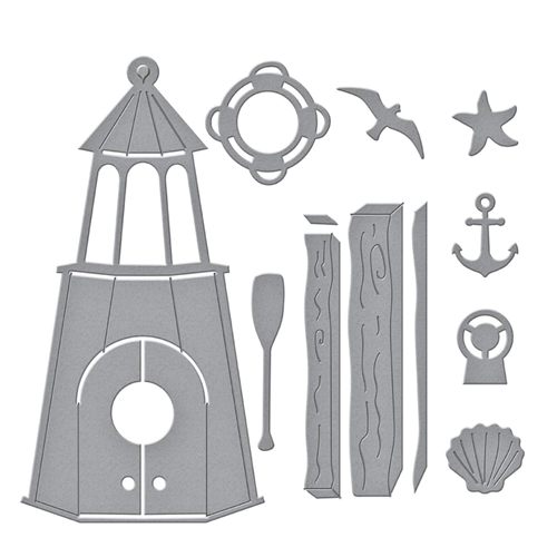 S4 1108 Spellbinders BUILD A SUMMER BIRDHOUSE Etched Dies Preview Image