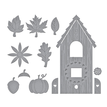 S4 1106 Spellbinders BUILD A FALL BIRDHOUSE Etched Dies