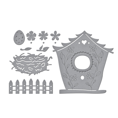 S4 1105 Spellbinders BUILD A SPRING BIRDHOUSE Etched Dies Preview Image
