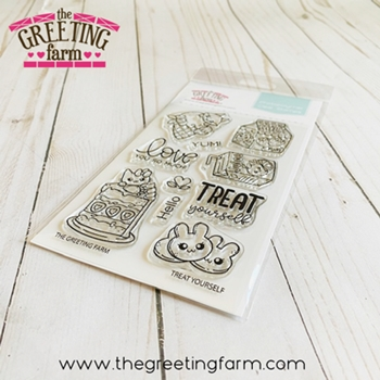 The Greeting Farm TREAT YOURSELF Clear Stamps tgf586