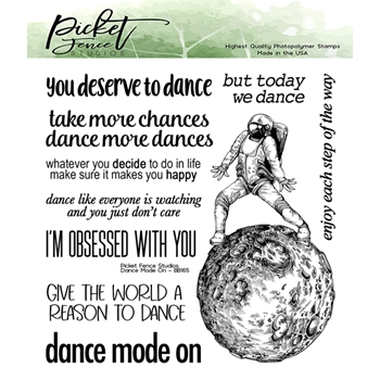 Picket Fence Studios DANCE MODE ON Clear Stamps bb165