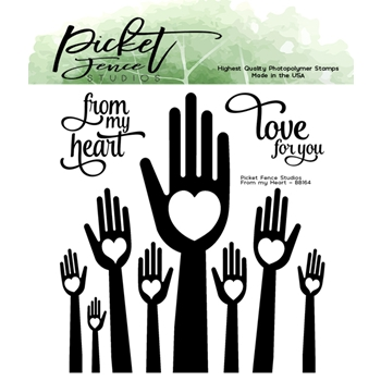 Picket Fence Studios FROM MY HEART Clear Stamps bb164