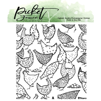 Picket Fence Studios MORE HOT CHICKS Clear Stamp a150