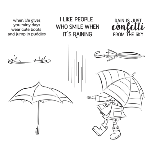 STP 014 Spellbinders CUTE BOOTS Clear Stamps Preview Image