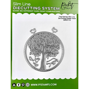 Picket Fence Studios TREE SCENERY Slim Line Die Insert sdcs112