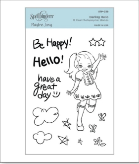 STP 039 Spellbinders DARLING HELLO Clear Stamps