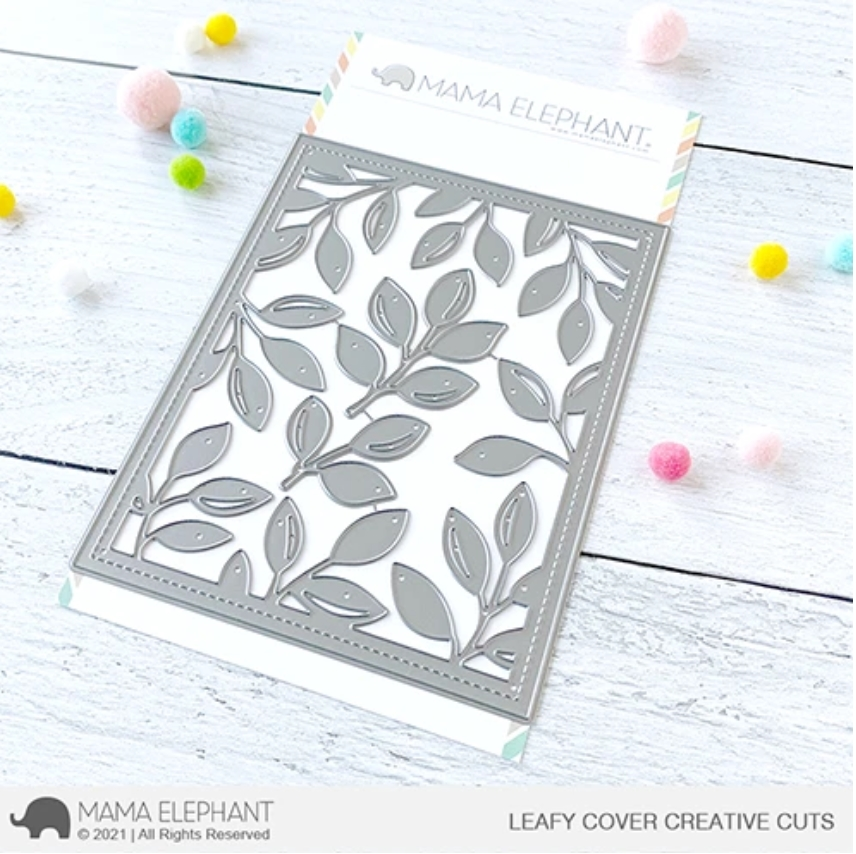 Mama Elephant LEAFY COVER Creative Cuts Steel Dies zoom image