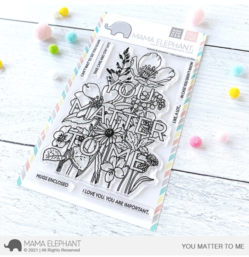 Mama Elephant Clear Stamps YOU MATTER TO ME zoom image