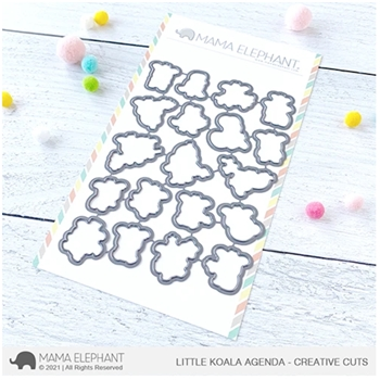 Mama Elephant LITTLE KOALA AGENDA Creative Cuts Steel Dies