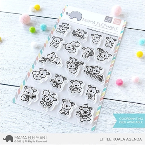 Mama Elephant Clear Stamps LITTLE KOALA AGENDA Preview Image