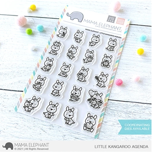 Mama Elephant Clear Stamps LITTLE KANGAROO AGENDA  Preview Image
