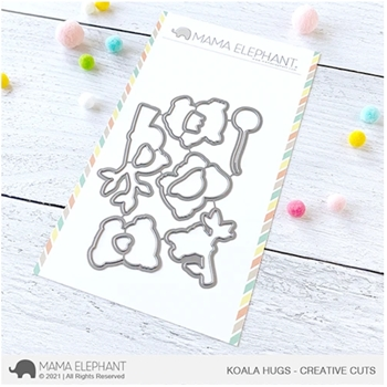 Mama Elephant KOALA HUGS Creative Cuts Steel Dies