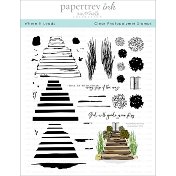 Ink to Paper WHERE IT LEADS Clear Stamps 1277