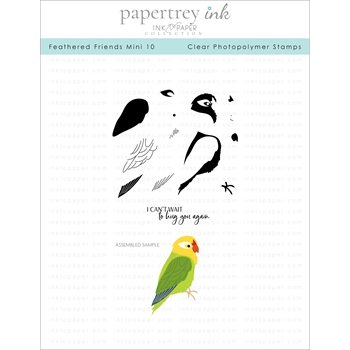 Ink to Paper FEATHERED FRIENDS MINI 10 Clear Stamps 1276