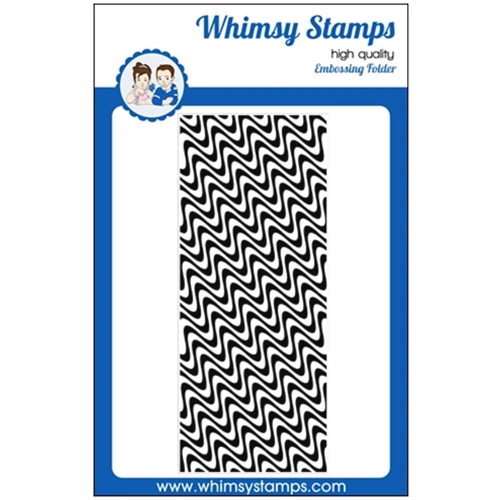 Whimsy Stamps WAVE LENGTHS Slimline Embossing Folder WSEF02 Preview Image