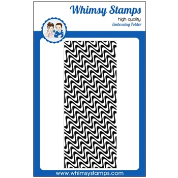 Whimsy Stamps WAVE LENGTHS Slimline Embossing Folder WSEF02