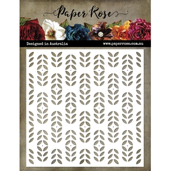 Paper Rose LITTLE SCANDI PATTERN 6x6 Stencil 21528