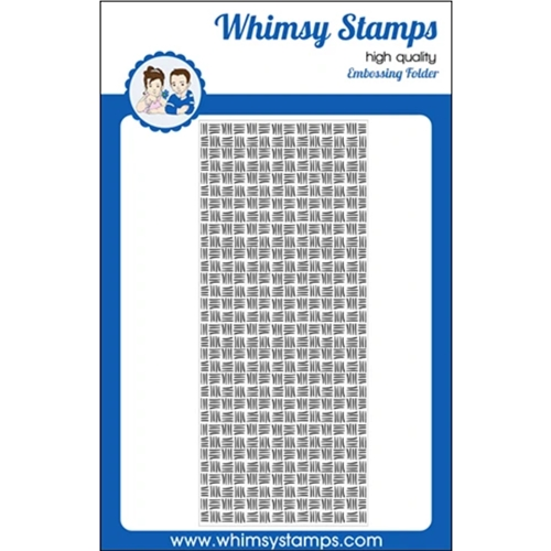 Whimsy Stamps THATCHED Slimline Embossing Folder WSEF01 Preview Image