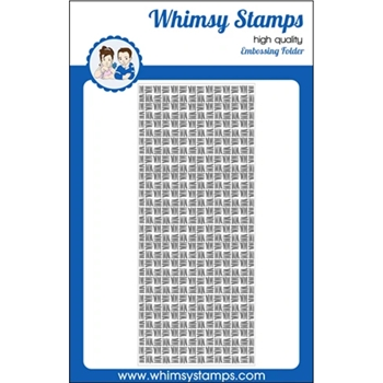 Whimsy Stamps THATCHED Slimline Embossing Folder WSEF01