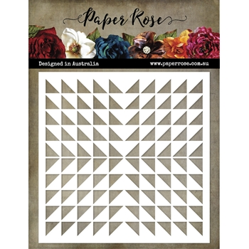 Paper Rose TRIANGLE BURST 6x6 Stencil 21531