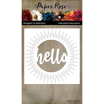 Paper Rose HELLO CIRCLE WORD Dies 21324