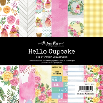 Paper Rose HELLO CUPCAKE 6x6 Paper Pack 21822