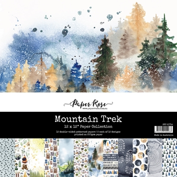 Paper Rose MOUNTAIN TREK 12x12 Paper Pack 21714