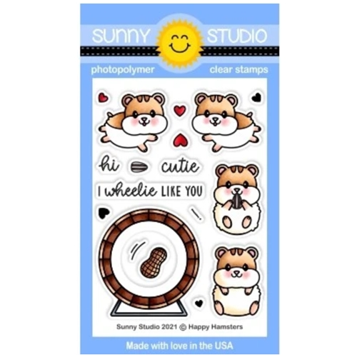 Sunny Studio HAPPY HAMSTERS Clear Stamps SSCL 299 Preview Image