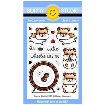 Sunny Studio HAPPY HAMSTERS Clear Stamps SSCL 299