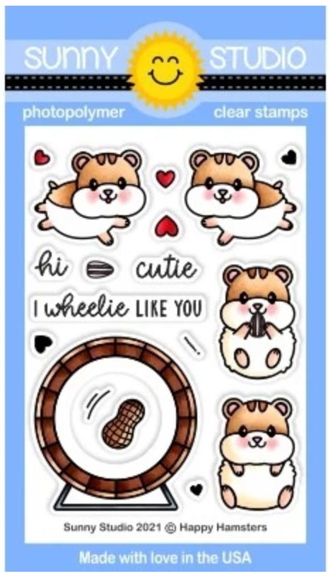 Sunny Studio HAPPY HAMSTERS Clear Stamps SSCL 299 zoom image