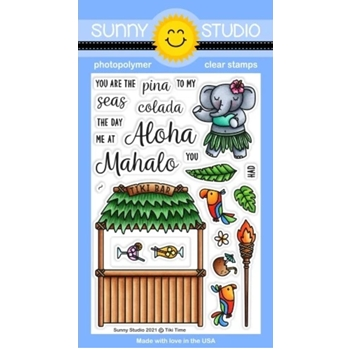 Sunny Studio TIKI TIME Clear Stamps SSCL 304