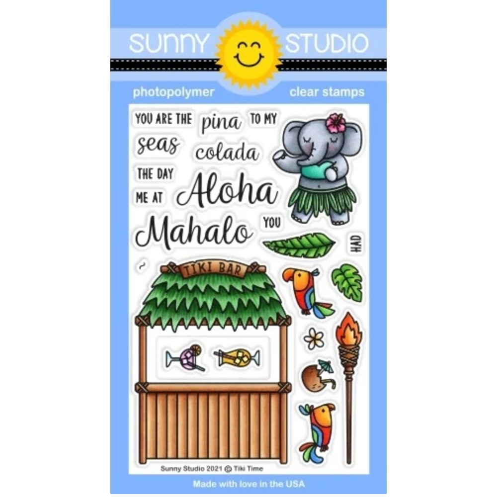 Sunny Studio TIKI TIME Clear Stamps SSCL 304 zoom image
